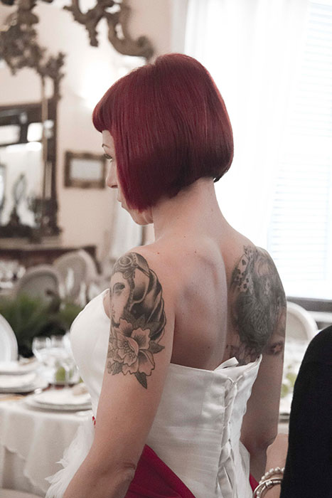 matrimonio rockabilly sposa tatuaggi