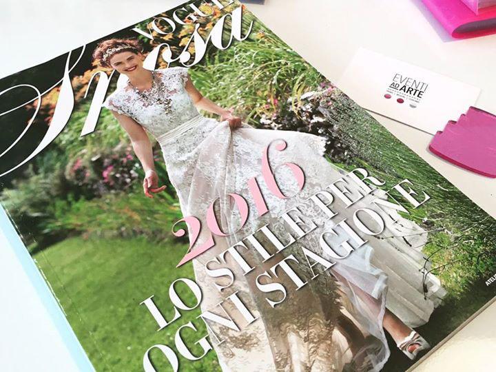 Riviste di settore Vogue Sposa dove Eventi ad Arte prende ispirazione