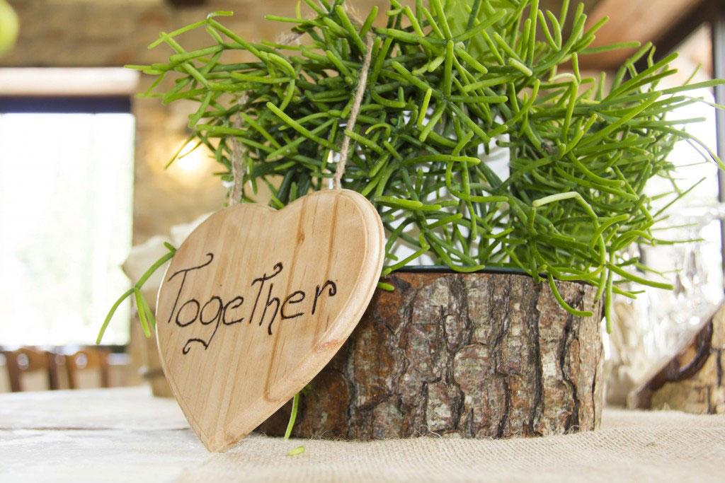 Particolare al tavolo degli sposi