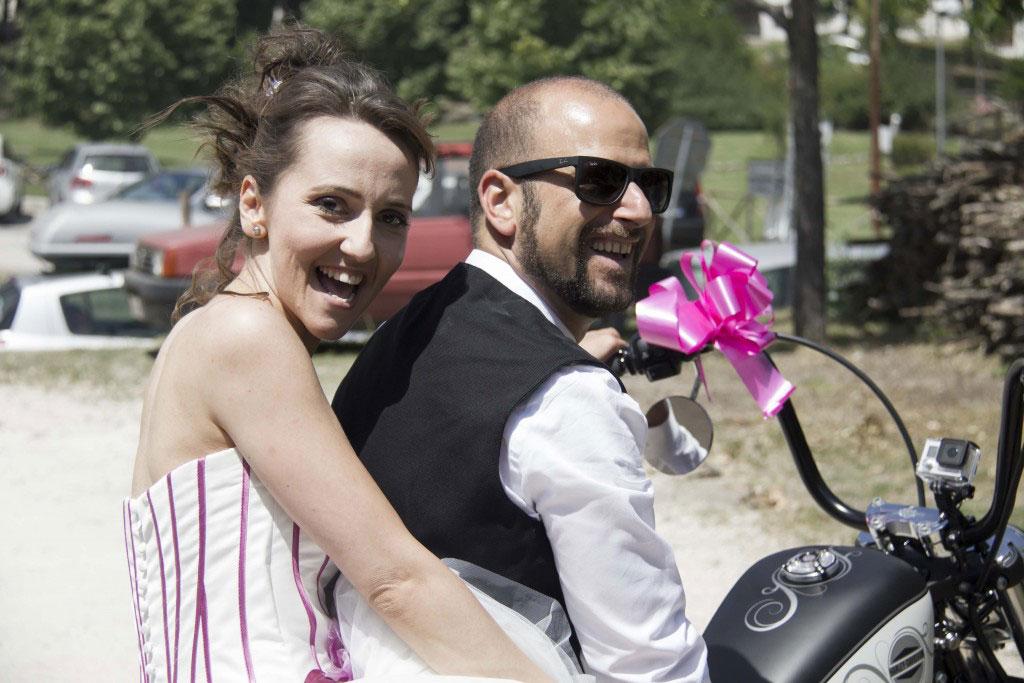 Sposi su Harley Davidson