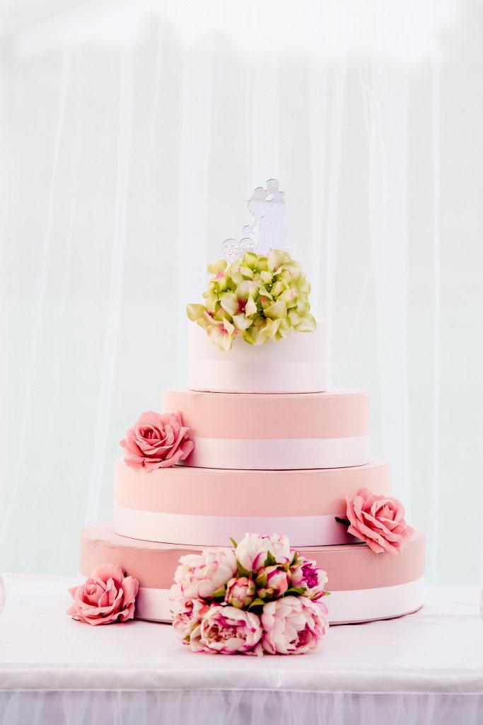 scenografia per matrimonio taglio torta