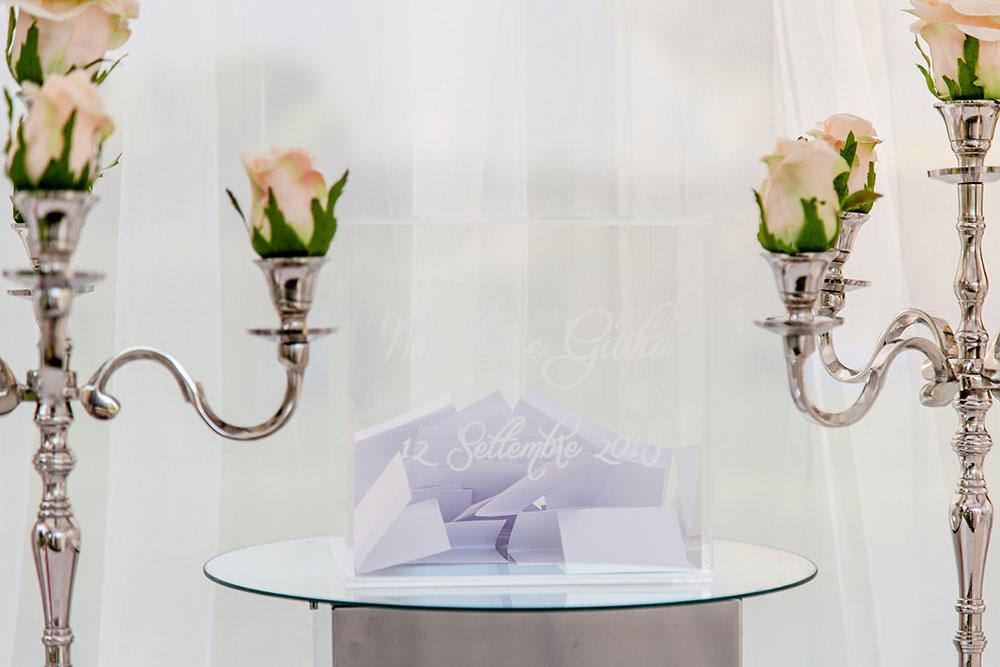 biglietti per sposi cubo plexiglass