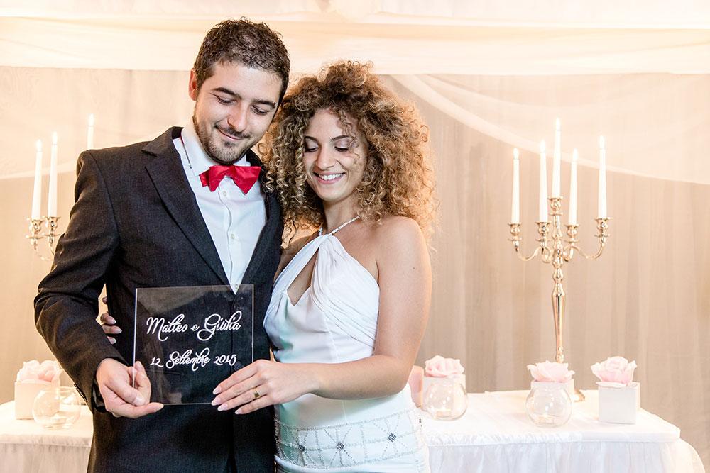 regalo per gli sposi targa in plexiglass