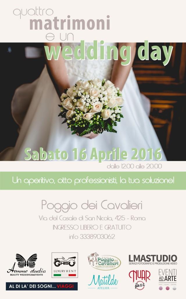 Locandina Open Day 4 matrimoni un Wedding Day
