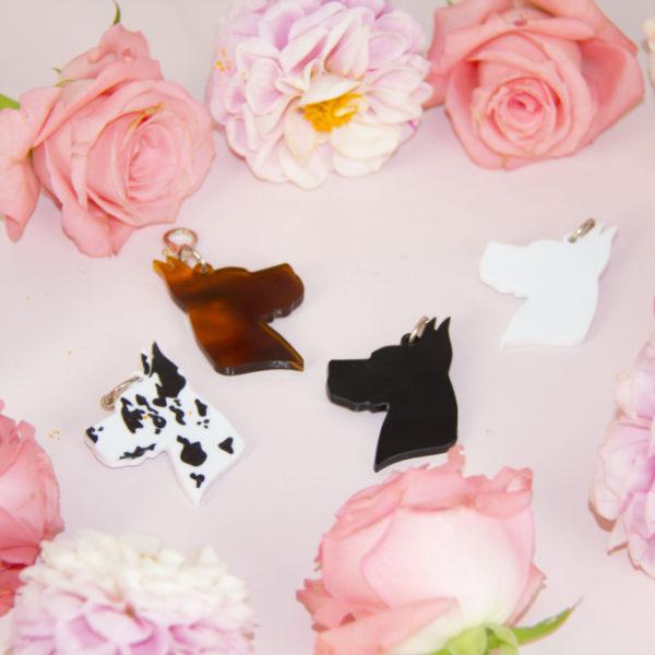 Idea regalo per amanti degli alani - Set Ufficio Portachiavi e Mouse pad