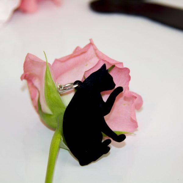 kit-gatto-regalo-portachiave-silhouette-gattino