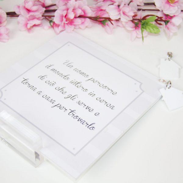 Idea regalo San Valentino: Due Cuori e una capanna - Kit dedica e portachiavi