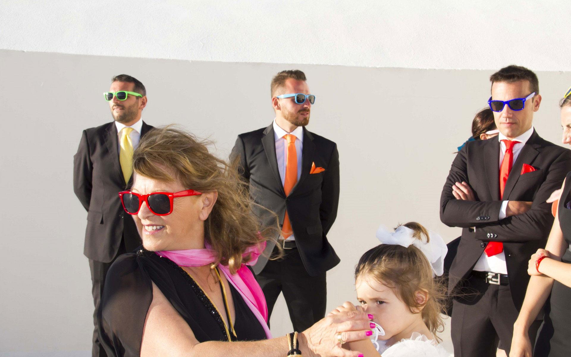 Matrimonio Santorini Rainbow dettagli colorati