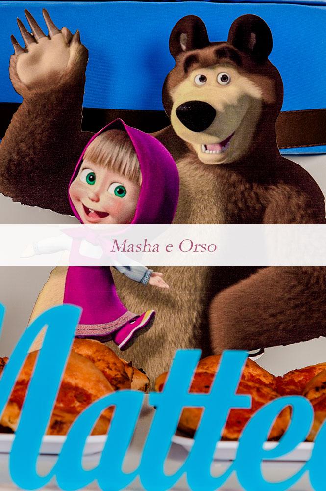 complanno bambino a tema masha e orso